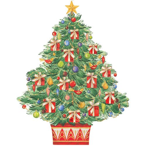 Caspari Advent Calendar - Tree with Gifts (ADV271)
