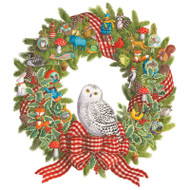 Caspari Advent Calendar - Snowy Owl Wreath (ADV272)