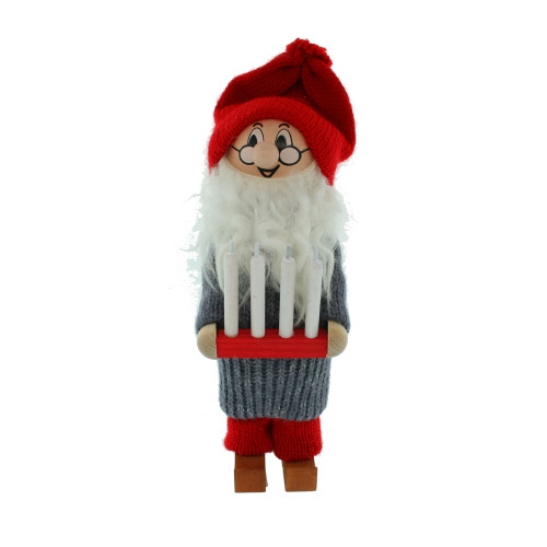 """Tomte Santa w/Advent Candle Holder - 8"""" (21804)"""