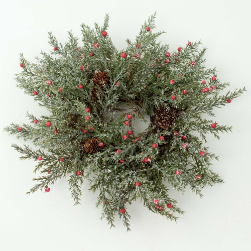"Candle Ring - Pine Berry Frost - 8"" (E380-FR)"