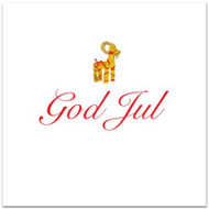 Julbock God Jul Card - Blank w/Envelope (A167)