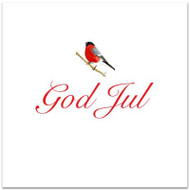 Domherre God Jul Card - Blank w/Envelope (A168)