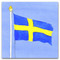 Sweden Flag Card - Blank w/Envelope (A14S)