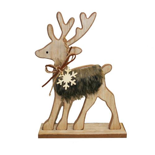 Wooden Deer Figure - 8 inch (180103)