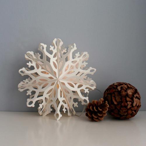 "Paper Snowflake Decoration - LED Light - Frida - 10"" (804015)"