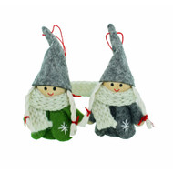 Tomte-Santa Girls Nordic Gnome Ornaments - 2 Pack (014989)