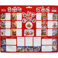 Christmas Stickers - 80 Sticker Pack (16223601A)