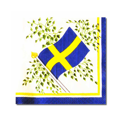 Sweden Flag Cocktail Napkins - 30 Pk. (504998)