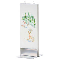 Handmade Decorative Flat Candle - Deer in the Woods (D1702)