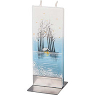 Handmade Decorative Flat Candle - Water Landscape (F1619)