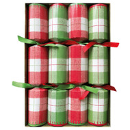 Christmas Crackers - Plaid Check Celebration - 8 Per Box (CK086)