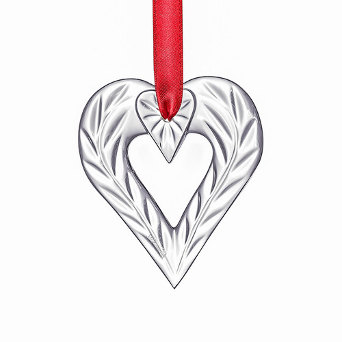 """Orrefors Crystal Gifts - Holiday Heart Ornament - H: 3.5"""" W: 3.0"""" (6719846)"""