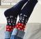 Bengt & Lotta Socks - Nature Blue - Large - merino wool/cotton blend (714631LG)