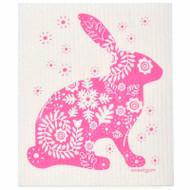 Swedish Dishcloth - Pink Bunny (70127)