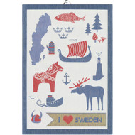 Ekelund Tea/Kitchen Towel - I Love Sweden (ILoveSweden)