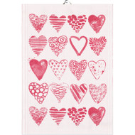 Ekelund Tea/Kitchen Towel - Hearts (Hearts)