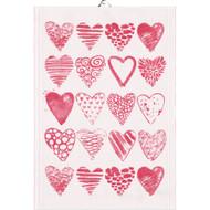 Ekelund Tea/Kitchen Towel - Hearts (Hearts)