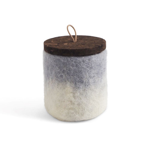 Felt Wool Jar w/Cork Lid - Concrete (1703)