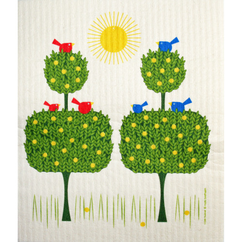 Swedish Dishcloth - Topiary Birds (221.02)