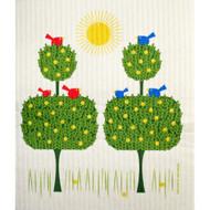 Swedish Dishcloth - Topiary Birds (221.02)