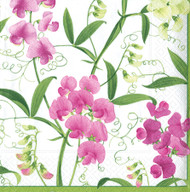 Sweet Peas Paper Luncheon Napkins (11780L)