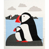Swedish Dishcloth - Puffins (221.10)