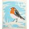 Swedish Dishcloth - European Robin (221.20)