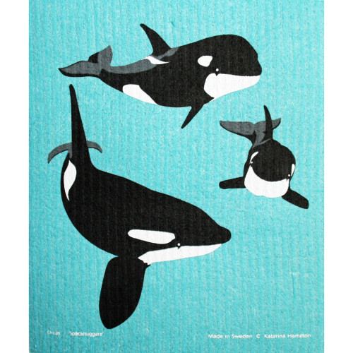Swedish Dishcloth - Orca Whales (221.26)