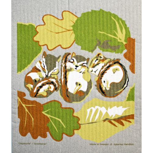 Swedish Dishcloth - Chipmunks (221.28)