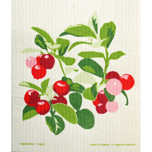 Swedish Dishcloth - Lingonberries (221.29)