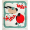 Swedish Dishcloth - Bullfinch (221.3O)