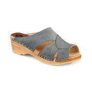 Mariah Clog-Sandals - Steel Suede - Women's - Original Sole Collection (373-189)