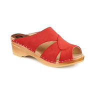 Mariah Clog-Sandals - Red Suede - Women's - Original Sole Collection (373-186)