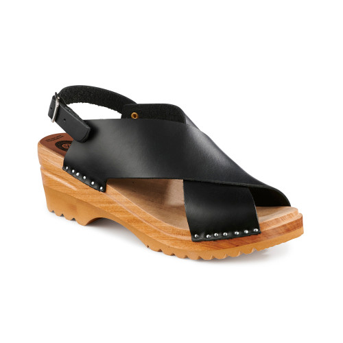 Anita Clog-Sandals - Black - Women's (016-183)
