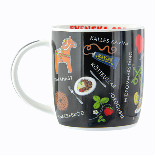 Swedish Words Mug - Black (92036)