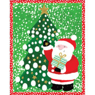Santa and Tree Boxed Christmas Cards - 16 cards and 16 Envelopes (89011)