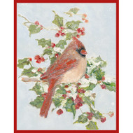 Cardinal and Holly Boxed Christmas Cards - 16 cards and 16 Envelopes (89008)