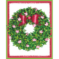 Peppermint Wreath Boxed Christmas Cards - 16 cards and 16 Envelopes (89012)