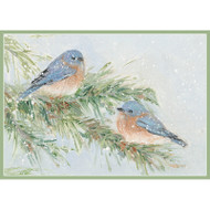 Birds on Snowy Branch Boxed Christmas Cards - 16 Cards & 16 Envelopes (89115)