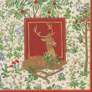 Stag Ivory Paper Luncheon Napkins in Red - 20 Per Package (15441L)