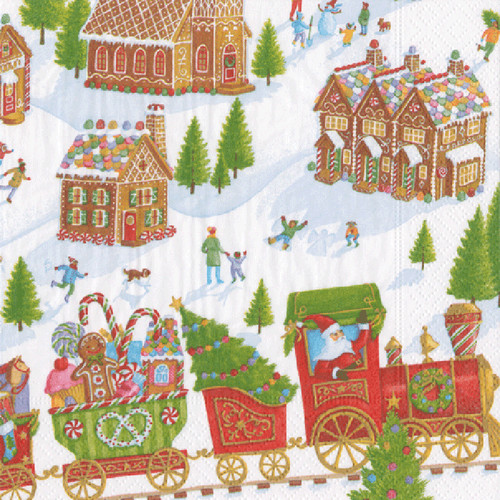 Gingerbread Village Paper Luncheon Napkins - 20 Per Package (15470L)
