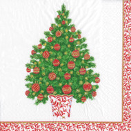 Decorated Tree Paper Luncheon Napkins - 20 Per Package (15400L)