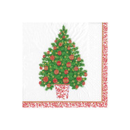Decorated Tree Paper Cocktail Napkins - 20 Per Package (15400C)