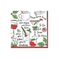 Holiday Spirits Paper Cocktail Napkins - 20 Per Package (15630C)