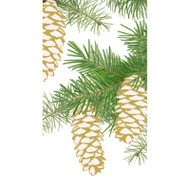 Pinecones Ivory Paper Guest Towel Napkins - 15 Per Package (15500G)