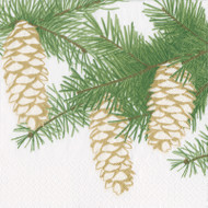 Pinecones Ivory Paper Luncheon Napkins - 20 Per Package (15500L)
