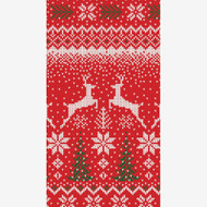 Winter Fairisle Paper Guest Towel Napkins - 15 Per Package (15410G)