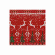 Winter Fairisle Paper Cocktail Napkins - 20 Per Package (15410C)