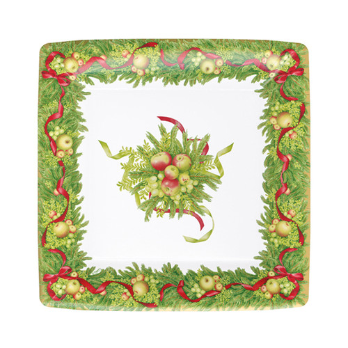 Apples and Greenery Paper Salad/Dessert Plates - 8 Per Package (15480SP)