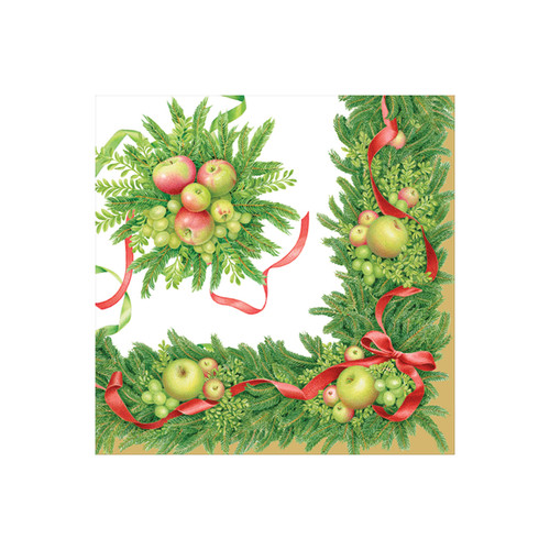 Apples and Greenery Paper Cocktail Napkins - 20 Per Package (15480C)